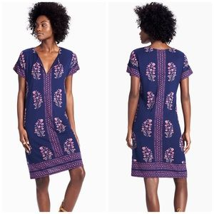 NWT Lucky Brand Dress Size L Navy Floral